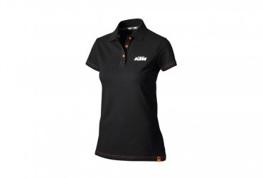 KTM Girls Racing Polo Black