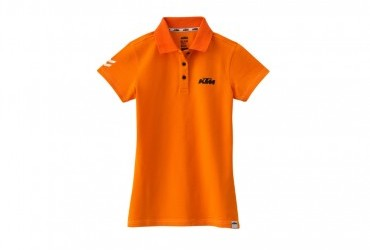 KTM Girls Racing Polo Orange