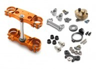 KTM Factory triple clamp/steering damper kit