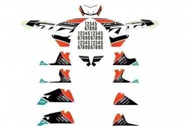 KTM FACTORY GRAPHICS KIT RC 125/390 2014-19