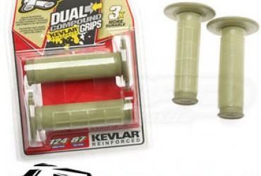 Grip Renthal dual compound Kevlar tapered grips waffle diamond G166